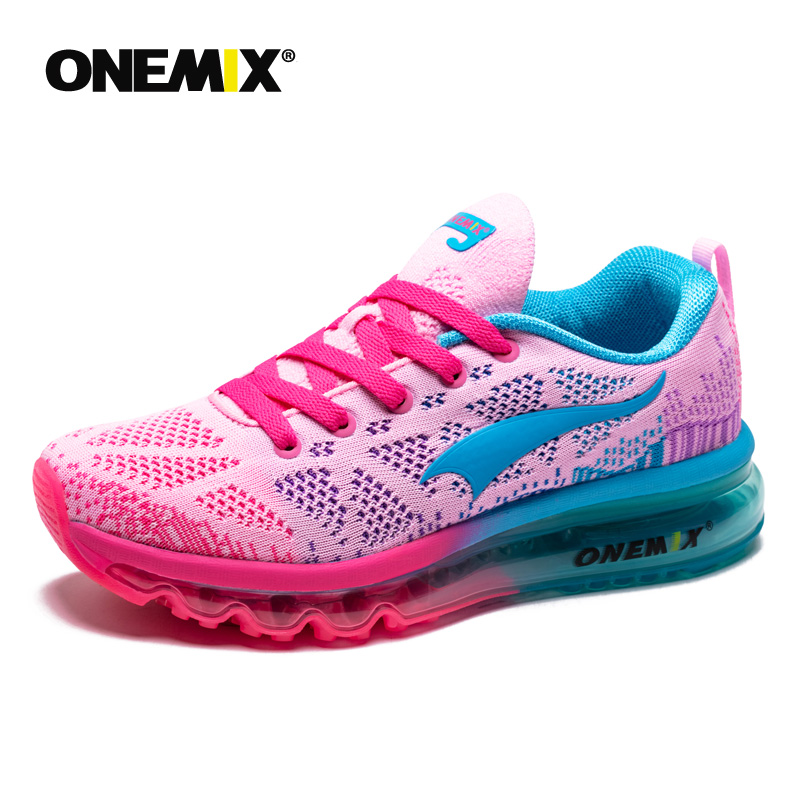 Onemix Hot Sales Women Music Rhythm Breathable Knit Vamp Women Sports Shoes Running Shoes Sneakers Free