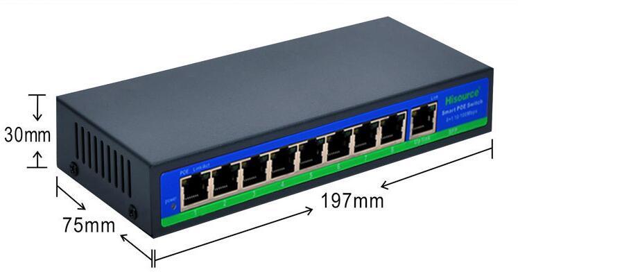 1set 10/100Mpbs smart 1 port Up link 8 Port POE Switch 120W CCTV POE Switch Hub for Camera cctv 4 port 10 100m poe net switch hub power over ethernet poe