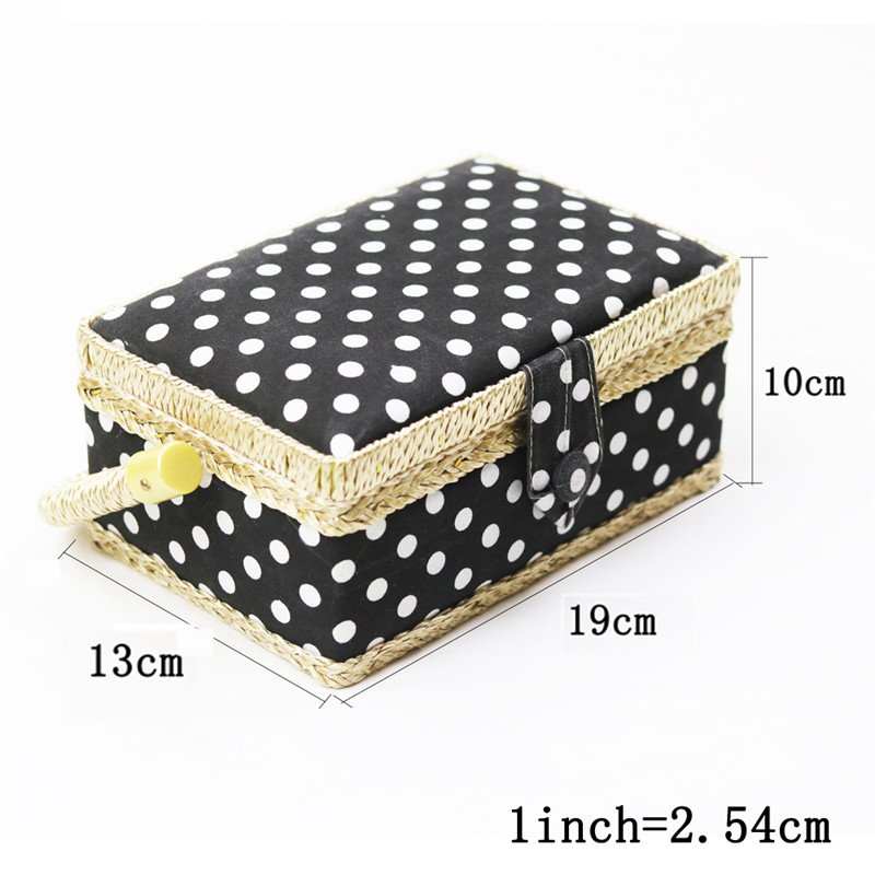Handmade Cotton Fabric Storage Sewing Basket Sewing Thread Scissors Tools Accessory Craft Tools Storage Box For Women Wife Gift  (3)