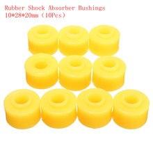 10 шт. 10 мм внутренний диаметр желтый резиновый амортизатор втулки часть для автомобиля
