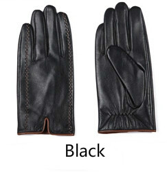 3e5e707e0 Gours Winter Men's Genuine Leather Gloves 2018 New Brand Touch Screen Gloves  Fashion Warm Black Gloves