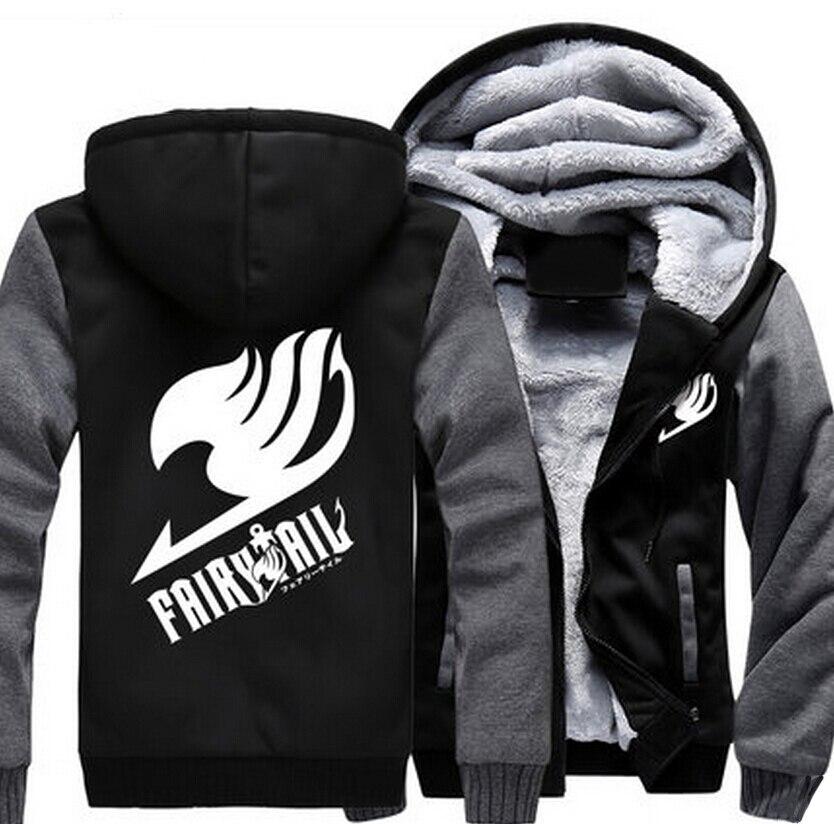USA size Men Women Anime Fairy Tail Cosplay Jacket Sweatshirts Thicken Hoodie Coat