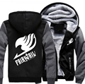 USA size Men Women Anime Fairy Tail Cosplay Jacket Sweatshirts Thicken Hoodie Coat