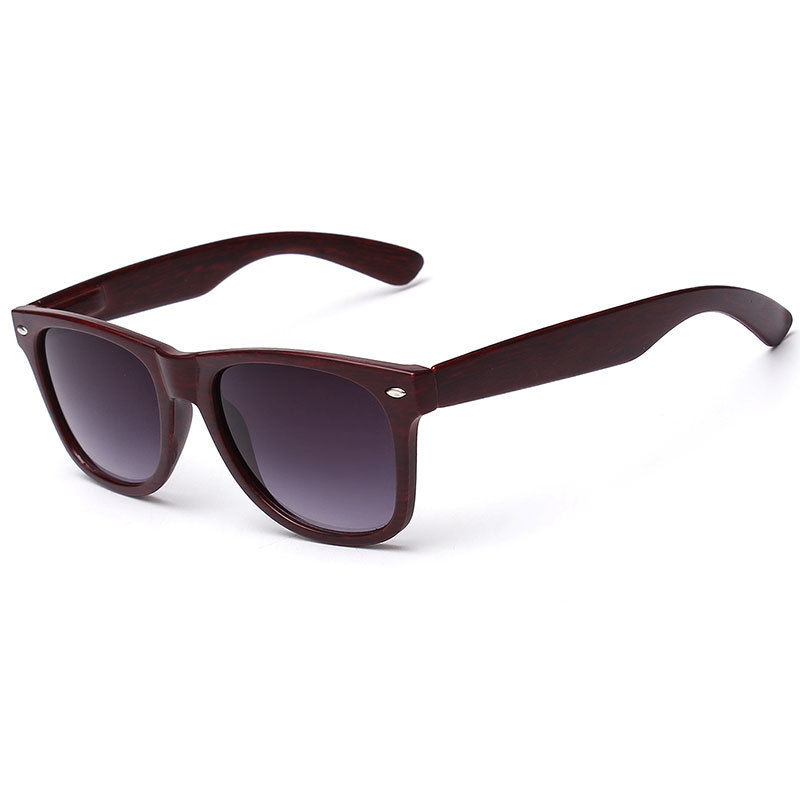 Eiropas un amerikāņu stili 2018 Jaunas tendences Vissvarīgākais modes saulesbrilles, Unisex koka graudu saulesbrilles Oculos De Sol Masculino