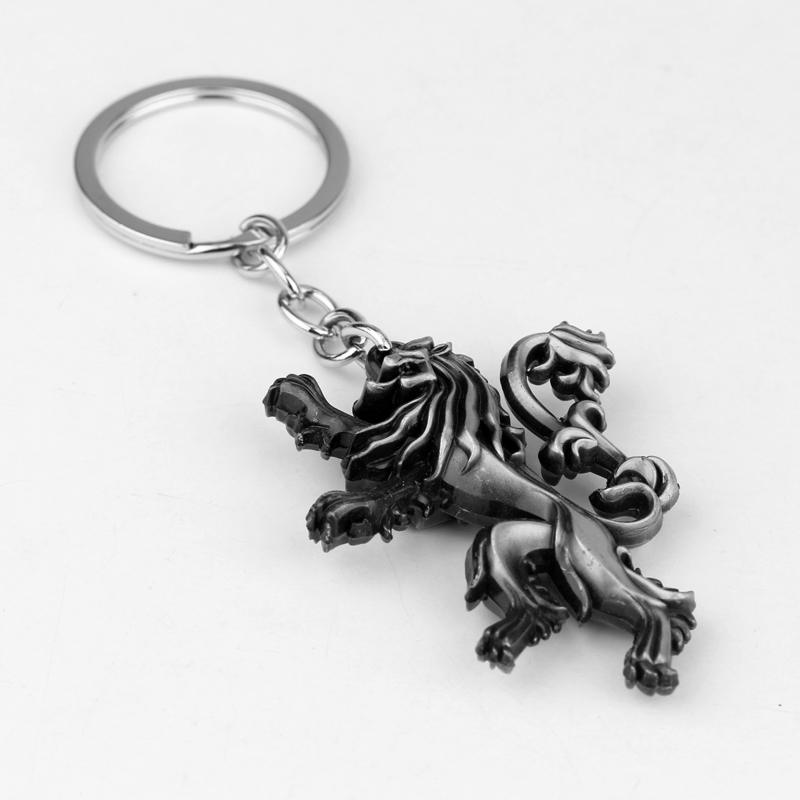 dongsheng Game of Thrones Keychain Vintage Lion Pendant Key Ring Key Chains For Men Boy Cartoon Anime Jewelry Keyring -50 портал сайт