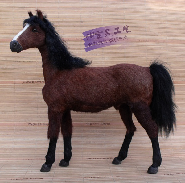 new simulation 1:6 war horse toy polyethylene&furs brown blood horse gift about 32x8xx34cm 1292 new simulation red fox toy polyethylene