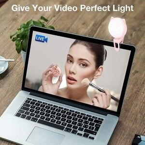 Image 5 - Selfie halka ışık kamera, klip [şarj edilebilir pil] Selfie Led kamera işık [32 Led] ile uyumlu Iphone,Ipad, fotoğraf #8