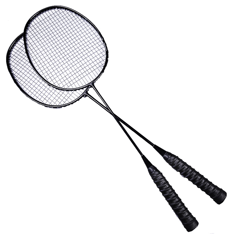 2 Pcs Professional Badminton Racket Set Family Double Badminton Racquet Bag Child Carbon Racquette Sports With String