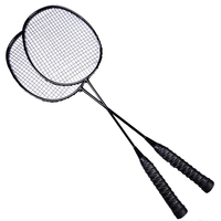 2 Pcs Professional Badminton Racket Set Family Double Badminton Racquet Bag Child Carbon racquette Sports With String