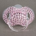 sell in lot 5 pcs shining hand made bling crystal rhinestone Baby Pacifier/ Nipples /Dummy /cocka /chupeta &pacifier clips