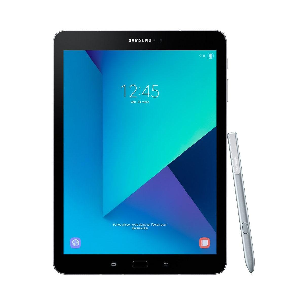 Tablet Samsung Galaxy Tab S3, Screen 9.7 (24,6 cm), WiFi silver color.