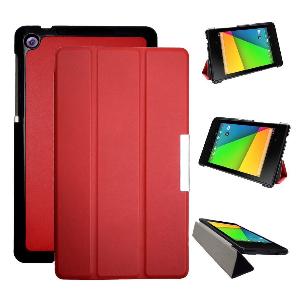 Ultra Slim pu leather Case for Google Nexus 7 2nd FHD with Auto Sleep Flip folio Cover for Asus Nexus 7 2013 model magnet stand 360 rotation protective pu leather case cover stand w auto sleep for asus google nexus 7 2 white