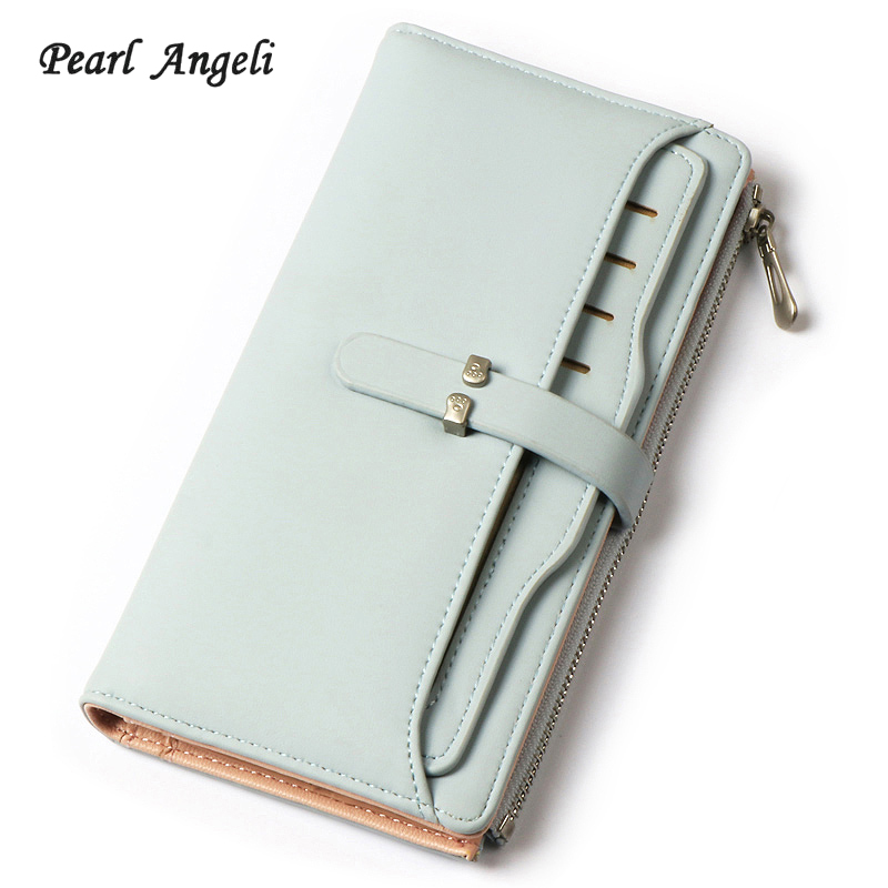New Women Wallet Purse Wallet Brand Coin Purse pink  Leather Wallet Female Purse Card Holder Long Lady Clutch Carteira Feminina Кошелёк