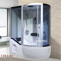 A5 Household Bathroom Shower Room Integrated One piece Shower Room Tempered Glass Steam Shower Room With Bathtub 110V/220V 3000W