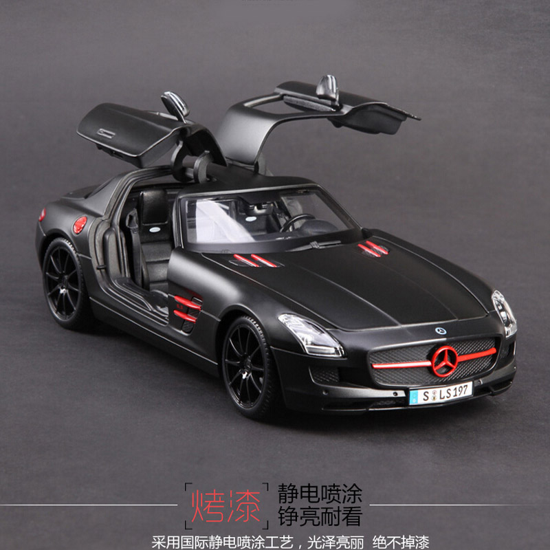 1:18 Scale Original maisto luxury SLS AMG kids metal real race car diecast collectible model cars racing gift toys for children maisto jeep wrangler rubicon fire engine 1 18 scale alloy model metal diecast car toys high quality collection kids toys gift