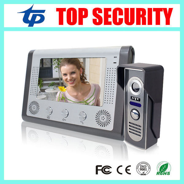 Good quality 7 inch color screen video door phone intercom door bell system with IR camera hands- free monitor video door bell door intercom video cam doorbell door bell with 4 inch tft color monitor 1200tvl camera