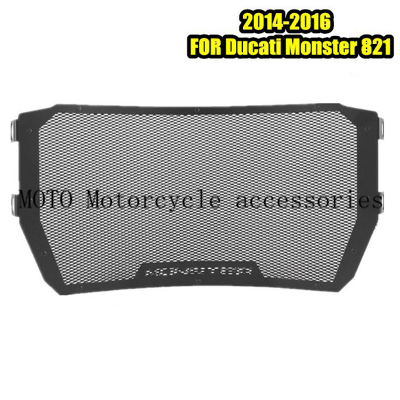 Motorcycle Radiator Grille Guard Cover Protector For Ducati Monster 821 1200 S 14-16 Water Tank RADIATOR GUARD COVER Protector 5pcs lot pure copper broken groove memory mos radiator fin raspberry pi chip notebook radiator 14 14 4 0mm copper heatsink
