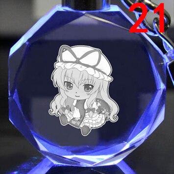 Брелок светодиодный кристалл Touhou Project 3