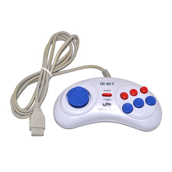 Game controller for SEGA Genesis for 16 bit handle Gamepad for MD Game Accessories Bring turbo with fast slow function 10pcs for sega mega drive 112 in 1 game card cartridge 16 bit md game card for sega genesis freeshipping