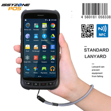 IssyzonePOS Handheld Android Scanner Pos Terminal 2D Barcode PDA Rugged Scanner 4G WiFi GPS Bluetooth NFC PDA Data Collector цена 2017