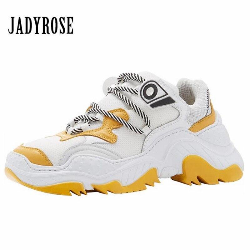 Jady Rose Mixed Color Retro Women Sneakers Platform Creepers Female Casual Flats Tenis Feminino Espadrilles Flat