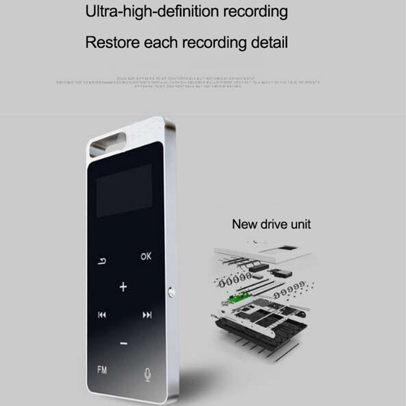 Original mp3 player Touch Screen Ultra thin 8GB MP3 Music Playe with 1.8 Inch Screen High Quality Voice Recorder Radio Walkman