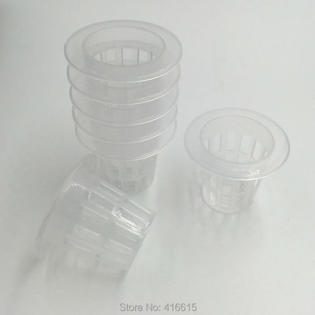 100Pcs Net Cups Hydroponics Mesh Basket Hydroponic Vegetable Grow Clone Basket  Water Culture Planting Nursery Pots S02-s