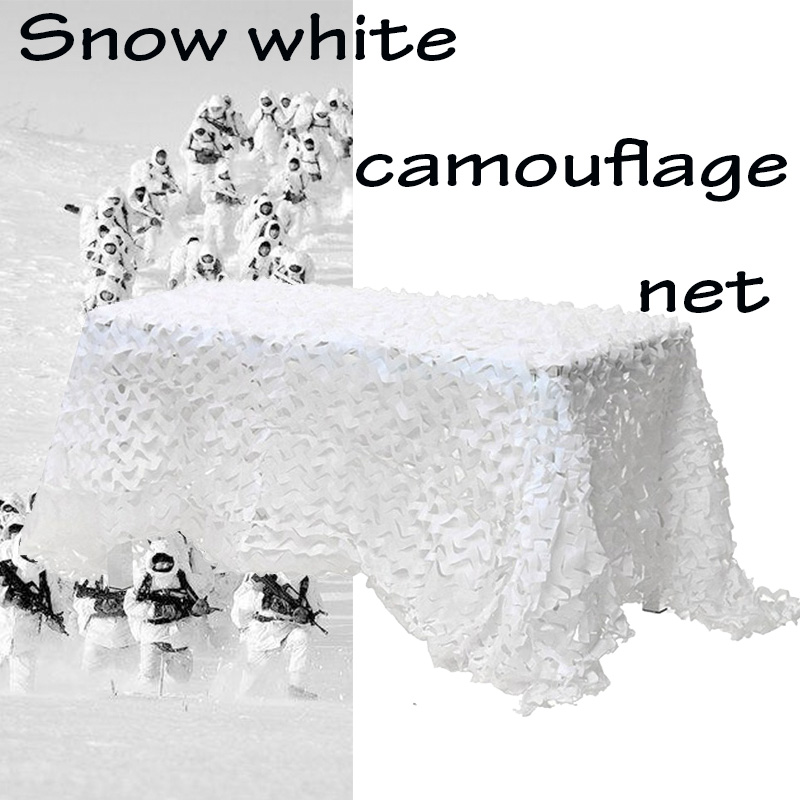 2X3 3X4 2X6M Snow White Camouflage Net Military Outdoor Hunting Camping Sun Shelter Garden Wedding Party Decoration Balcony Net