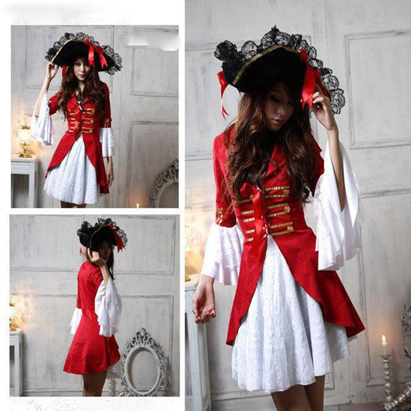 2017 New Sexy Women Pirate Costume Halloween Fancy Party Dress Carnival Perfor mance Christmas Adult Pirate Cosplay Costumes