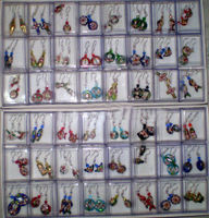 Wholesale 20Pair Stunning Chinese Handmade Floral Cloisonne Enamel Cute Earring