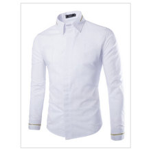 Cotton Cadigan Turn down Collar Attached Zip Decoration Long Sleeve Casual Male Dress font b Shirts