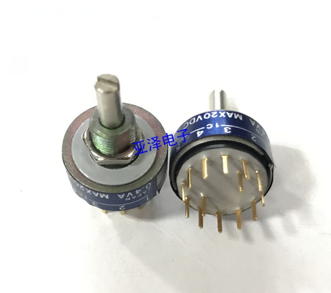 [VK] Japanese ORIGINAL MRE2-6S small seal rotating band switch 2 knife 6 gear switch Shaft and thread total 15MM [vk] grayhill 44h30 01 6 2n 6 knife 12 line 2 gear rotating band switch