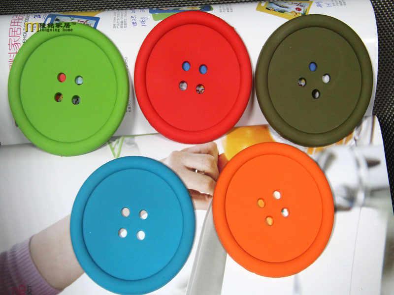 1 шт. силиконовая подставка для чашки, милые цветные кнопки Подставка под чашку подставки под стакан держатель для напитков салфетки под чашки коврики коврик под чашку LB 275