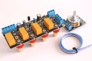 Image 5 - Amplifier board Chassis signal selection switch board audio source signal switching relay band with RCA AMPLIFIERS