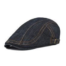 778d8178b9b VOBOOM Summer Autumn Cotton Denim Flat Cap Men Ivy Caps Blue Newsboy Women  Cabbie Beret Hat Gatsby Driver Hats 388