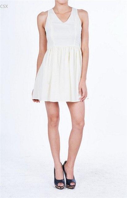 01c89b3d58 Najlepiej Sprzedający Się Nowy Elegancka Sukienka Letnia Kobiety Szyfonowa  Sukienka Krzyż Koronki Z Powrotem V-