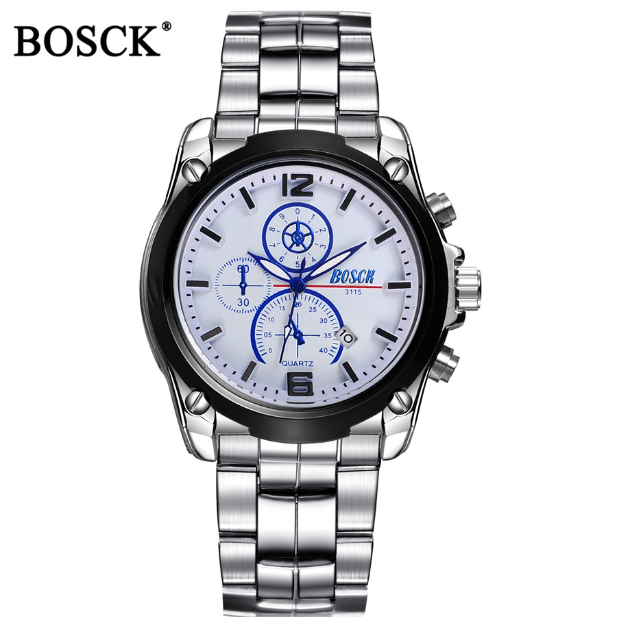 BOSCK Man Watches 2016 Brand Luxury Military Wrist Watches For Men Waterproof Watch Men Sport Guartz