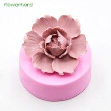 Silicone Mold Flower Plamt Decorating-Tools Cake Peony Fondant Handmade 3D Fragrance