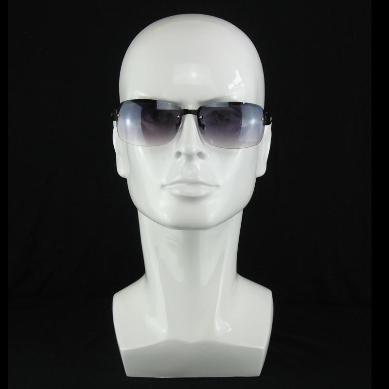 Bright White Plastic Male Mannequin Dummy Head Men Manikin Head Stand Model  for Wig Hat Sunglass Headphone Mask display