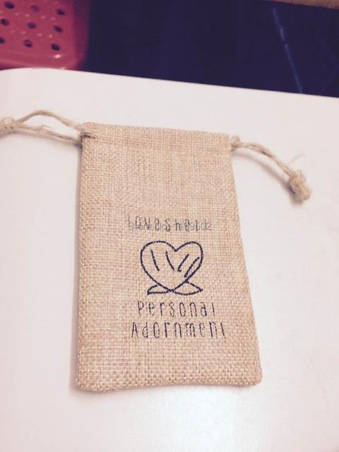 Wholesale jutelinenflax drawstring bag jewelry easter gifts wholesale jutelinenflax drawstring bag jewelry easter giftsnecklace bangle herb jade negle Images