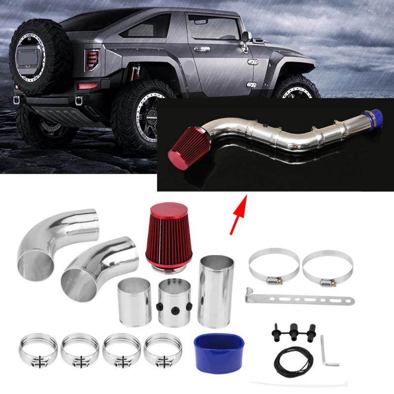 Car Cold Air Injection Intake Filter System Hose Pipe Tube Kit 76mm 3inch Aluminium Universal