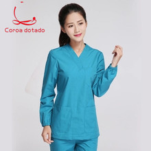 Hand-washing suit set pure cotton thickened operating for men and women doctors room uniform isolation