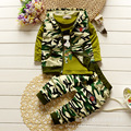 2016 Autumn Cotton Baby Clothes Leisure Three-piece Set Camouflage Children's Clothes Set