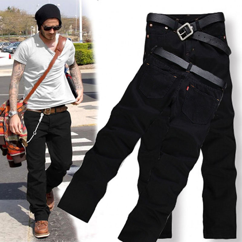 Men's Fashion Pant Brand Black Jeans Pocket Male Casual Straight Denim Jeans New Arrival Slim Soft Denim Men's Brand Biker Jeans men s cowboy jeans fashion blue jeans pant men plus sizes regular slim fit denim jean pants male high quality brand jeans