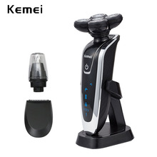 kemei 5D electric shaver razor men shaving machine nose trim