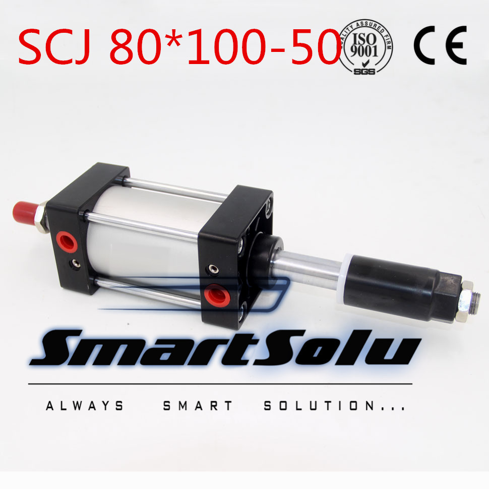 Free Shipping Airtac type Standard air cylinder single rod 80mm bore 100mm stroke SCJ80x100-50 50mm adjustable stroke cylinder free shipping airtac type standard air cylinder single rod 80mm bore 25mm stroke scj80x25 25 25mm adjustable stroke cylinder