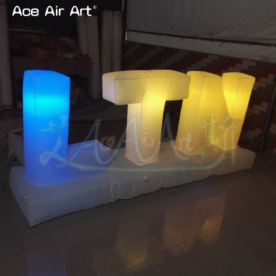 Customized led lighting inflatable letters of alphabet advertising billboard colorful letters set balloon for sale - 6