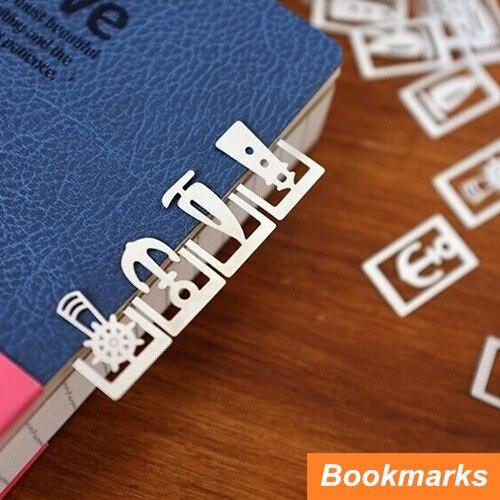 64 pcs em 3 caixa de Metal marcador para titular Book Page marcador de livro bonito do Vintage papelaria escritório material escolar 6408