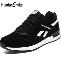 Hundunsnake Black Leather Man Sneakers Men Summer Women's Running Shoes Men Sport Shoes Men's Sports Shoe Athletic Krasovki T620