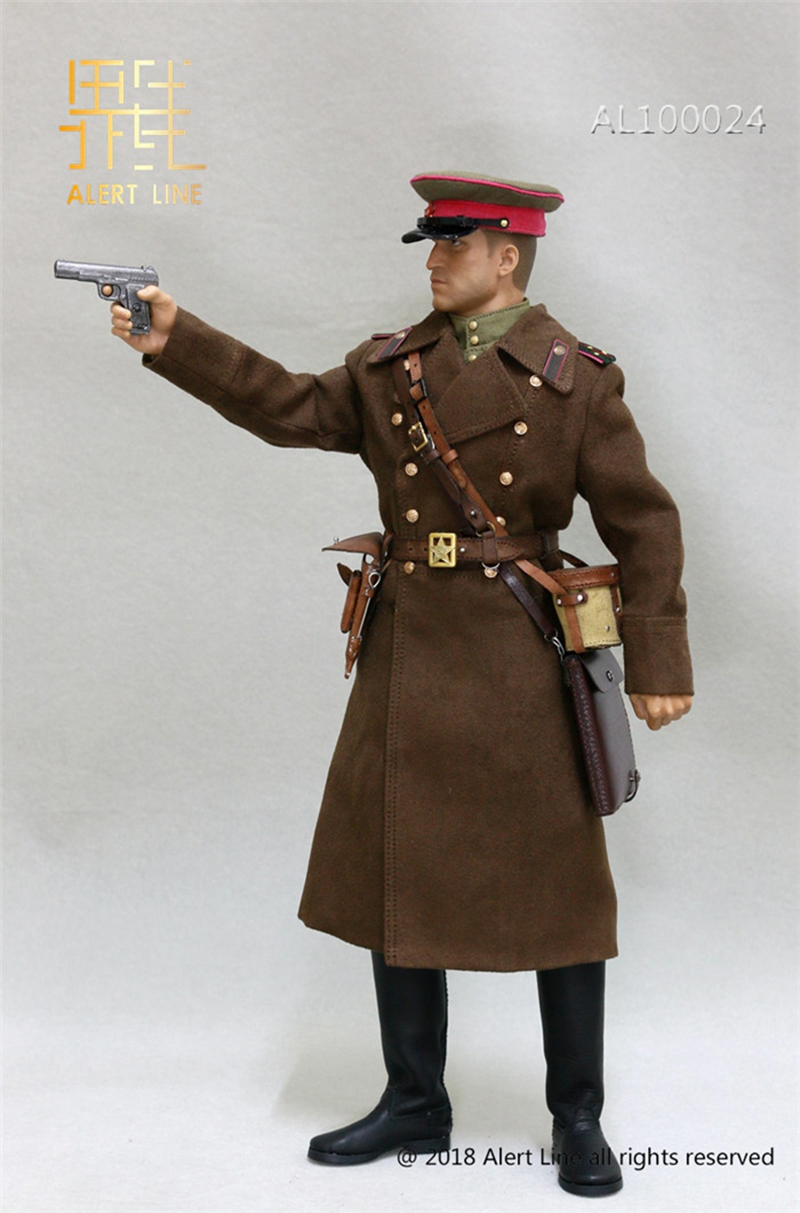 Red Army Senior Officer Tall Boots for Feet 1//6 Scale Alert Line Figures